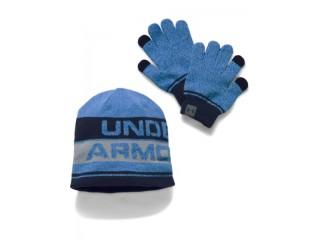 Zimní set čepice a rukavice Under Armour Boy's Beanie Glove Combo 2.0 modrá