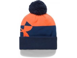 Dětská zimní čepice Under Armour Boy's Pom Beanie Upd oranžová
