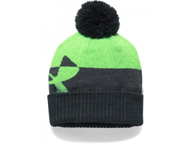 Dětská zimní čepice Under Armour Boy s Pom Beanie Upd zelená ... 4cdc1e6178
