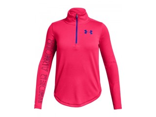 Dívčí triko Under Armour Tech 1/2 zip růžové