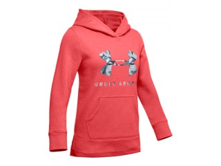 Dívčí mikina Under Armour Rival Print Fill Logo Hoody červená