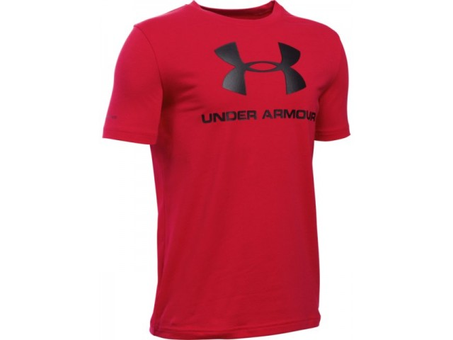 Dětské triko Under Armour Sportstyle Logo SS T červené  ec2e20d49e