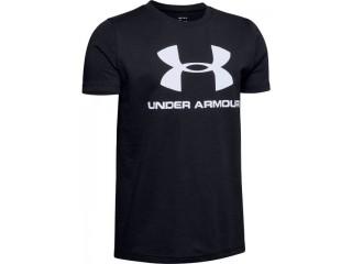 Dětské triko Under Armour Sportstyle Logo SS černé