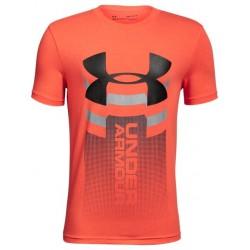 Dětské triko Under Armour Veritcal Logo SS T oranžové e9acf65316
