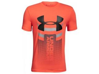Dětské triko Under Armour Veritcal Logo SS T oranžové