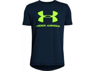 Dětské triko Under Armour Sportstyle Logo SS modré