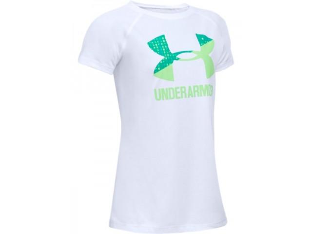 Dívčí triko Under Armour Tech Big Logo SS T bílé  bcbd135717