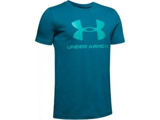 Dětské triko Under Armour Sportstyle Logo SS tyrkysové